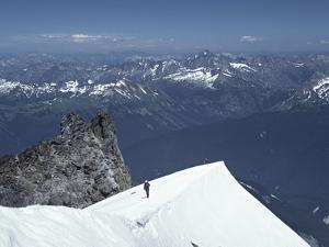 Climbers on Glacier Peak, North Cascades, Washington, USA by Charles Sleicher