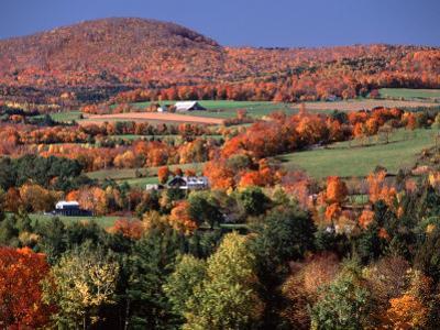 Farmland near Pomfret, Vermont, USA by Charles Sleicher