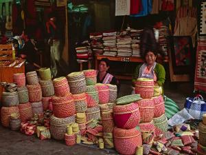 Market Scene, Oaxaca, Mexico by Charles Sleicher