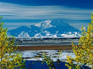 Mt. Denali After First Snowfall of the Summer, Denali National Park, Alaska, USA by Charles Sleicher