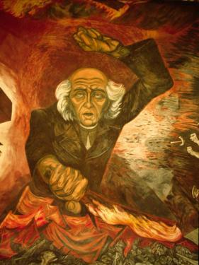 Orozco Mural of Hidalgo at City Hall, Palacio del Gobierno, Guadalajara, Mexico by Charles Sleicher