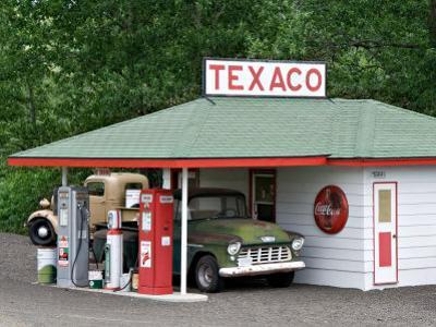 Replica of Old Texaco Station near St. John, Washington, USA by Charles Sleicher