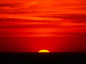 Sunset Over the Gulf of Mexico, Florida, USA by Charles Sleicher