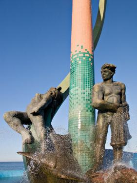 The Fisherman's Monument at the Playa Los Pinos, Mazatlan, Mexico by Charles Sleicher