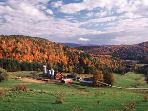 Vermont Farm in the Fall, USA by Charles Sleicher