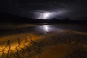 A Lightning Storm Approaches from the West Side of Yellowstone National Park by Charles Smith