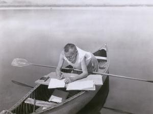 Charles Steinmetz German-American Mathematician Worked in His Canoe, Ca. 1900