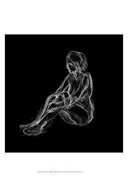Figure Study on Black I by Charles Swinford