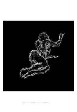 Figure Study on Black IV by Charles Swinford