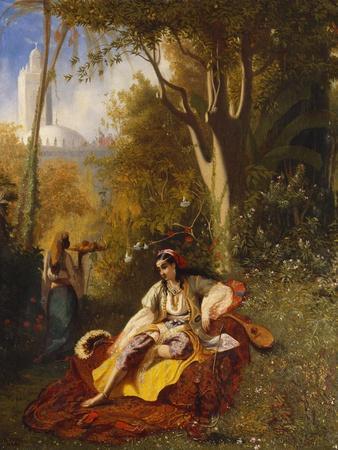 An Algerian Woman and Her Servant in a Garden, 1844
