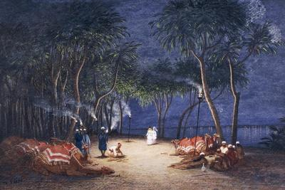 Overnight Camp on Banks of Nile, from Empress Eugenie of France's Journey in Egypt