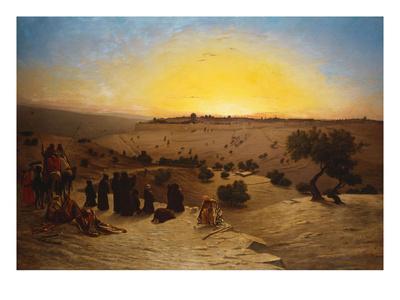 Pilgrims Worshipping Outside Jerusalem