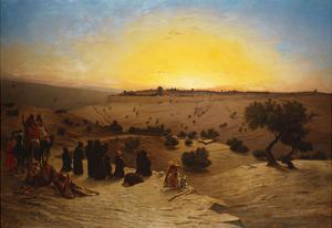 Pilgrims Worshipping Outside Jerusalem by Charles Theodore Frere