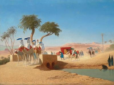 The Empress Eugenie Visiting the Pyramids