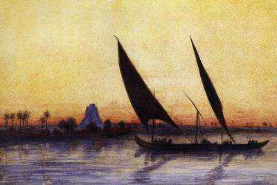 Trip on Nile by Felucca, from Empress Eugenie of France's Journey in Egypt