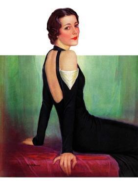 """Svelte in Black,""October 13, 1934 by Charles W. Dennis"