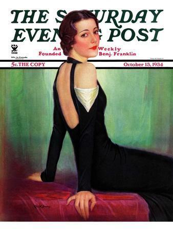 """Svelte in Black,"" Saturday Evening Post Cover, October 13, 1934"