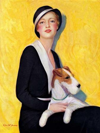 """""""Woman and Airedale,""""May 13, 1933"""