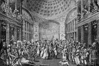 A Masquerade Scene at the Pantheon, 1773