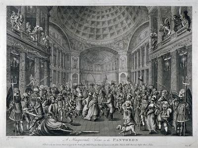 Scene of a Masquerade at the Pantheon, Oxford Street, Westminster, London, 1773