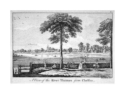 View of the River Thames from Chelsea, London, 1750