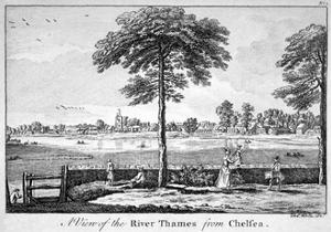 View of the River Thames from Chelsea, London, 1750 by Charles White