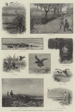 Illustrations from The Badminton Library of Sports and Pastimes, Moor and Marsh, Field and Covert by Charles Whymper