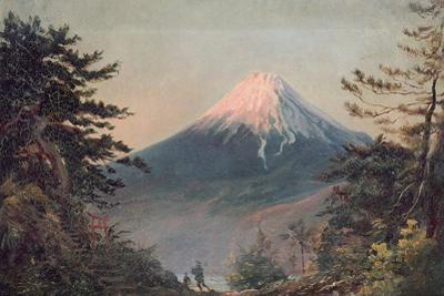 A View of Mount Fusiyama with Figures in the Foreground