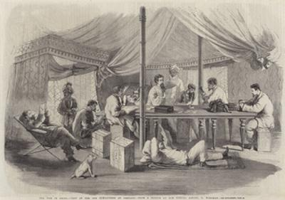 The War in China, Tent of the 15th Punjaubees at Pehtang