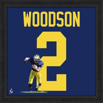 Charles Woodson, University of Michigan Wolverines - Framed photographic representation of the play