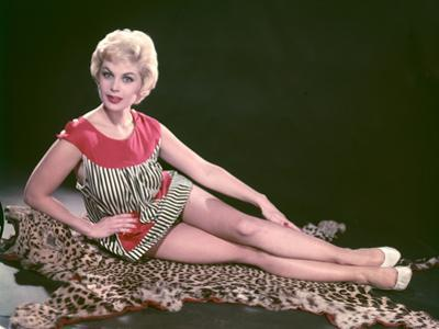 Blonde on Leopard Rug by Charles Woof