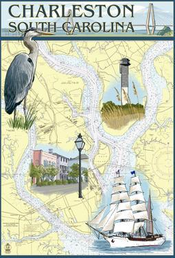Charleston, South Carolina - Nautical Chart