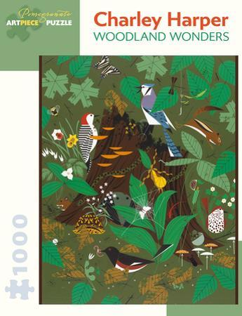 Charley Harper: Woodland Wonders 1000 Piece Puzzle