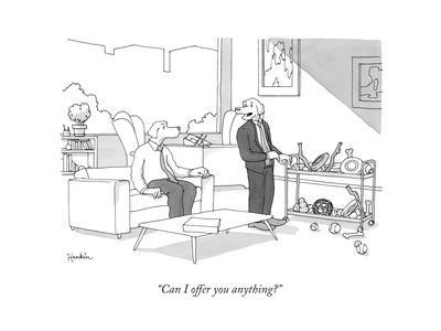 """""""Can I offer you anything?"""" - New Yorker Cartoon"""