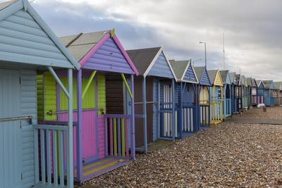 Beach Huts at Herne Bay, Kent, England, United Kingdom, Europe