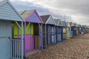 Beach Huts at Herne Bay, Kent, England, United Kingdom, Europe by Charlie Harding