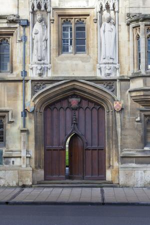 Entrance to All Souls College, Oxford, Oxfordshire, England, United Kingdom, Europe