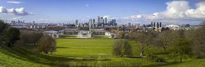 Panoramic View of Canary Wharf, the Millennium Dome, and City of London by Charlie Harding