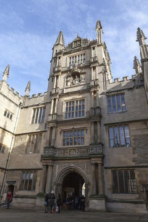 The Courtyard of the Bodleian Library, Oxford, Oxfordshire, England, United Kingdom, Europe