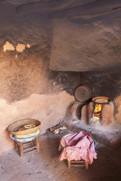 The Kitchen of a Traditional Berber Home in the Ourika Valley, Morocco, North Africa, Africa by Charlie Harding