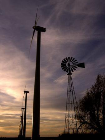 A Row of Wind Turbines by Charlie Riedel