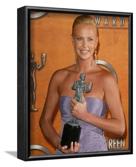 Charlize Theron--Framed Photo