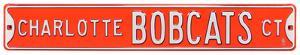 Charlotte Bobcats Ct Steel Sign