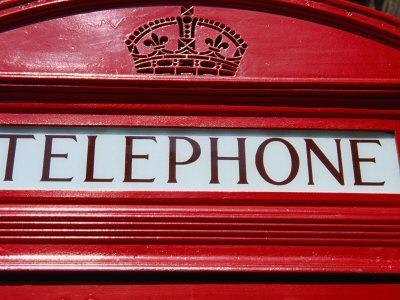Detail of Old Public Telephone Box, London, United Kingdom