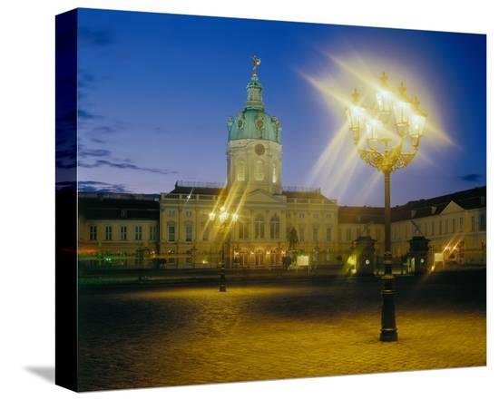 Charlottenburg Castle, Berlin--Stretched Canvas Print