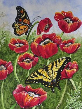 Monarch and Swallowtail by Charlsie Kelly