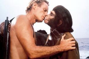 """Charlton Heston; Kim Hunter. """"Planet of the Apes"""" [1968], Directed by Franklin J. Schaffner."""