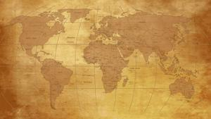 Map Of World On Old Paper by charobna
