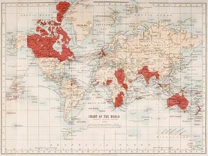 Chart of the World Showing the British Empire, 1901