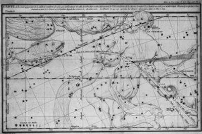 Chart Showing Path of Halley's Comet